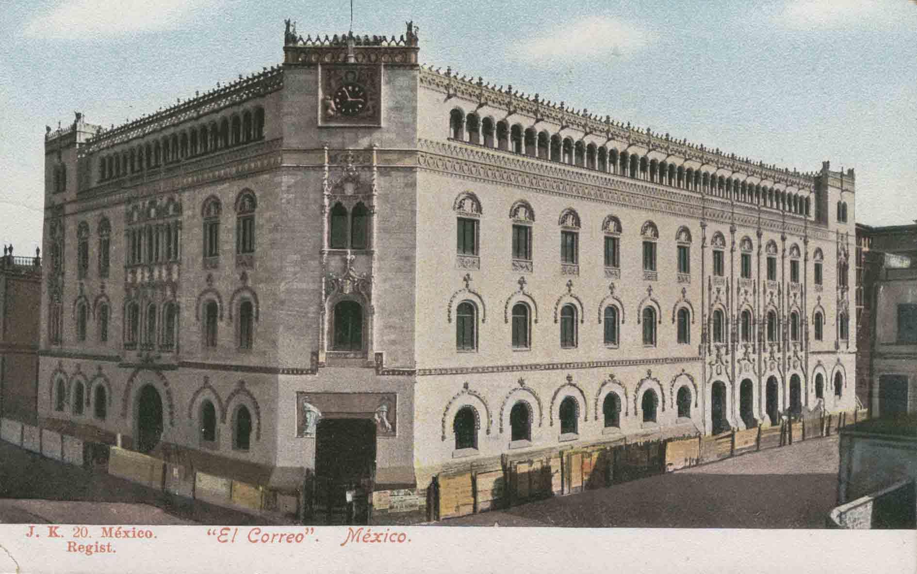 Wikimexico de tiempos de don porfirio el palacio de correos for Oficina central correos madrid