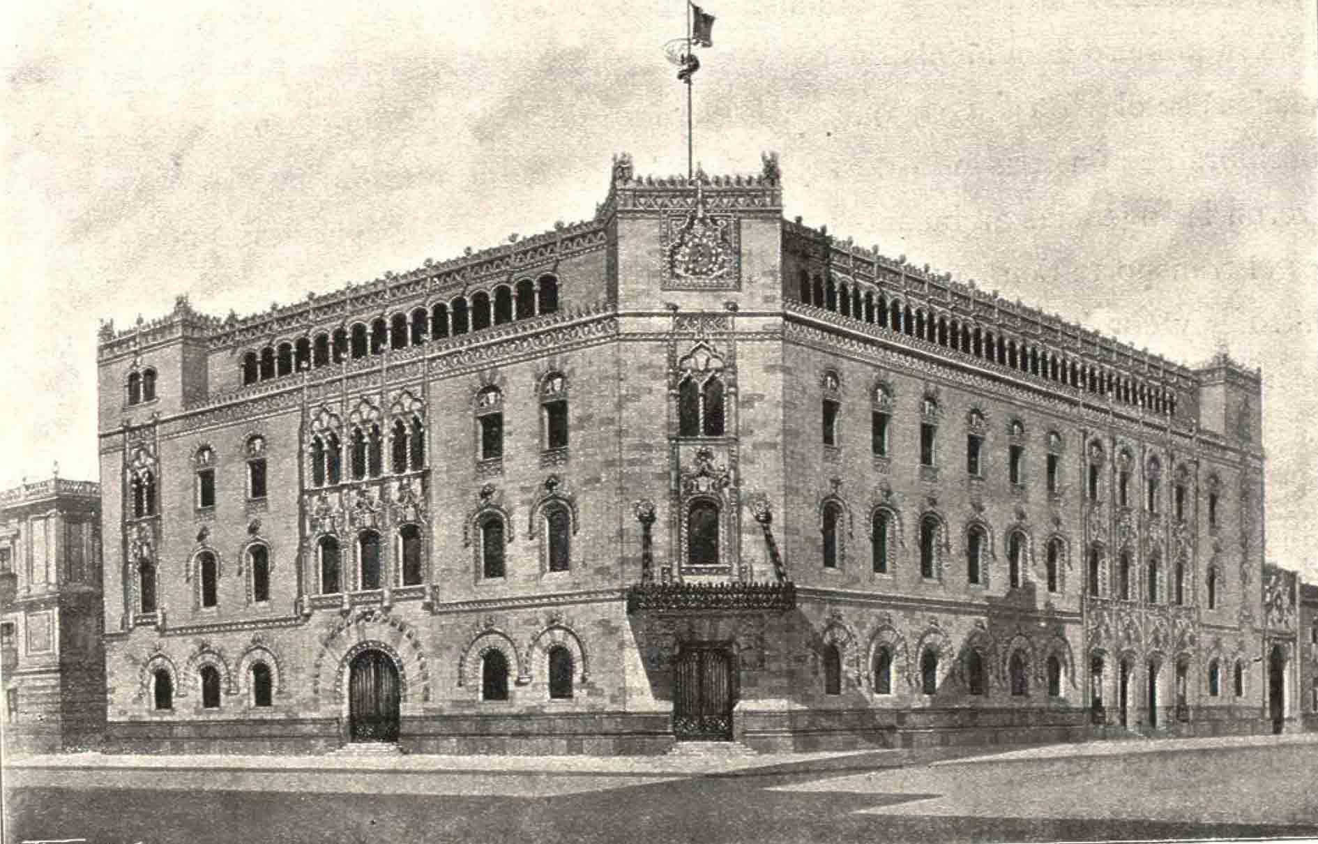 Wikimexico de tiempos de don porfirio el palacio de correos for Oficina central de correos madrid